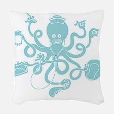 octopus-nurse-MUG Woven Throw Pillow