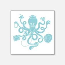 "octopus-nurse-MUG Square Sticker 3"" x 3"""