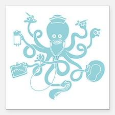 "octopus-nurse-MUG Square Car Magnet 3"" x 3"""
