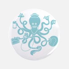 "octopus-nurse-MUG 3.5"" Button"