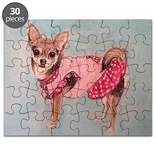 polka dot chihuahua Puzzle