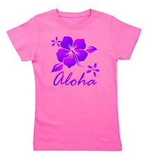 Aloha Purple Girl's Tee
