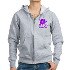 Aloha Purple Zip Hoodie
