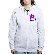 Aloha Purple Zip Hoody
