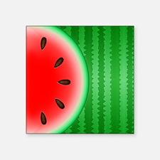 """Watermelon Slice Square Sticker 3"""" x 3"""""""