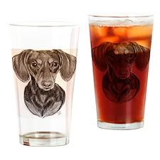 Daschund Drinking Glass