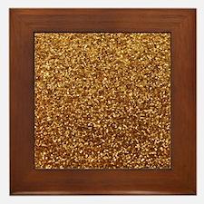 Faux gold glitter Framed Tile