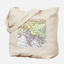 Vintage map of Asia Tote Bag