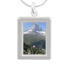 Matterhorn mountain Silver Portrait Necklace