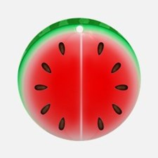 Watermelon Slice Round Ornament