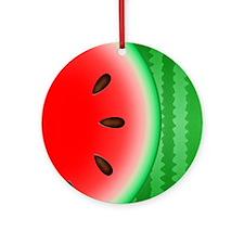 Watermelon Slice Round Ornament