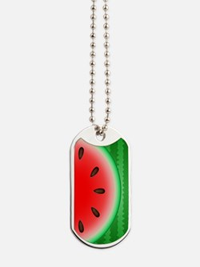 Watermelon Slice Dog Tags