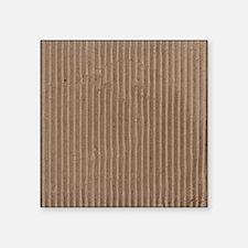 "Brown corrugated cardboard  Square Sticker 3"" x 3"""