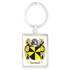 Campbell Coat of Arms Portrait Keychain