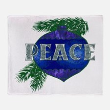 Christmas Peace Ornament Throw Blanket