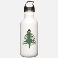 Peace Holiday Tree Water Bottle