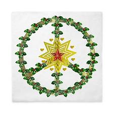 Peace Star Christmas Queen Duvet