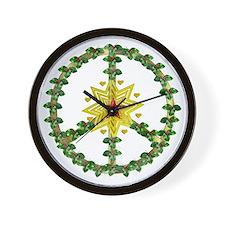 Peace Star Christmas Wall Clock