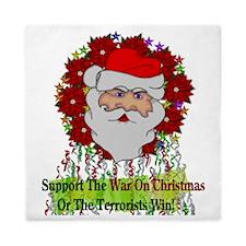 War On Christmas Santa Queen Duvet