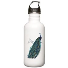 Vintage peacock Water Bottle