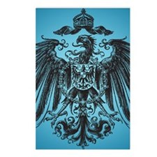 Eagle Crest on Blue Postcards (Package of 8)