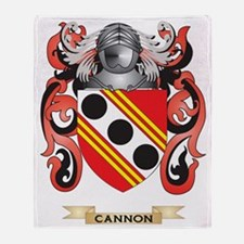 Cannon Coat of Arms Throw Blanket