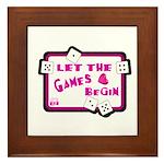 Let The Games Begin Bunco/Dice Framed Tile