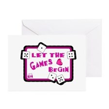 Let The Games Begin Bunco/Dice Greeting Cards (Pac