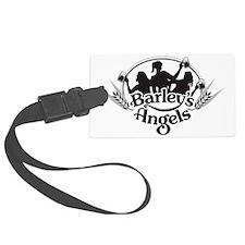 Barley's Angels black and white  Luggage Tag
