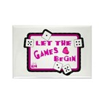 Let The Games Begin Bunco/Dice Rectangle Magnet (1