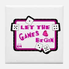 Let The Games Begin Bunco/Dice Tile Coaster