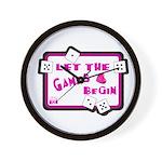 Let The Games Begin Bunco/Dice Wall Clock
