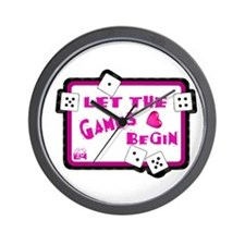 Let The Games Begin Bunco/Dice Wall Clock