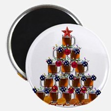 Beer and Burger Holiday Tree Magnet