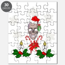 Happy Holidays Christmas Skull Puzzle