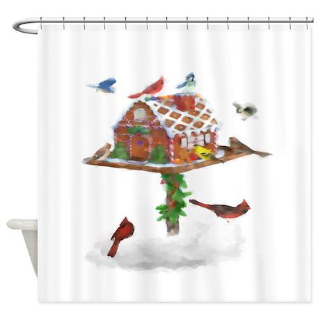 Ginger Bird Shower Curtain By Cerridwenscuriosities