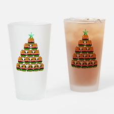 Hamburger Christmas Tree Drinking Glass