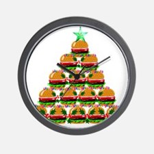Hamburger Christmas Tree Wall Clock