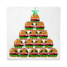 Hamburger Christmas Tree Queen Duvet
