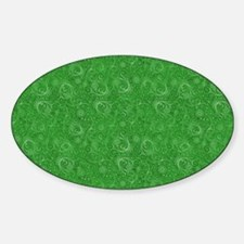 Green Swirling Paisley Pattern Decal