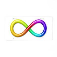 Infinity Aluminum License Plate