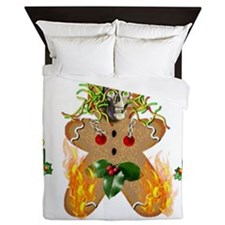 Flaming Wormy Gingerbread Queen Duvet
