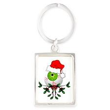 Christmas Eyeball Portrait Keychain