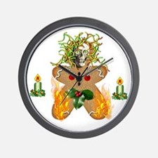 Flaming Wormy Gingerbread Wall Clock