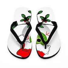 Christmas Eyeball Flip Flops