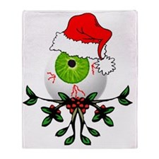 Christmas Eyeball Throw Blanket