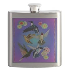 For The Love Of Hummingbirds Flask