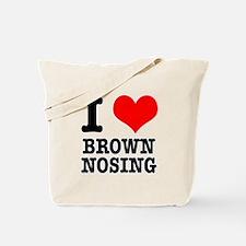 I Heart (Love) Brown Nosing Tote Bag