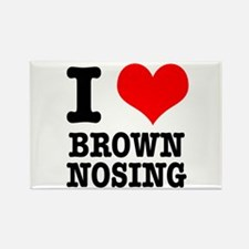 I Heart (Love) Brown Nosing Rectangle Magnet