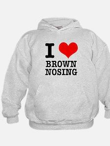 I Heart (Love) Brown Nosing Hoodie